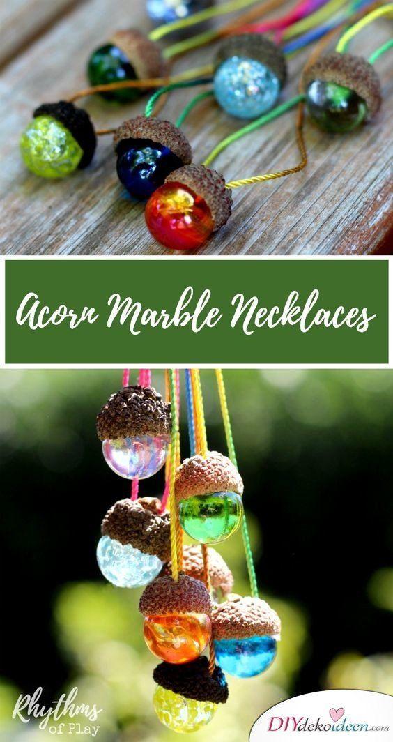Herbst ist Bastelzeit - 15+ DIY Ideen für Herbstdeko basteln mit Eicheln #herbstdekobastelnnaturmaterialien