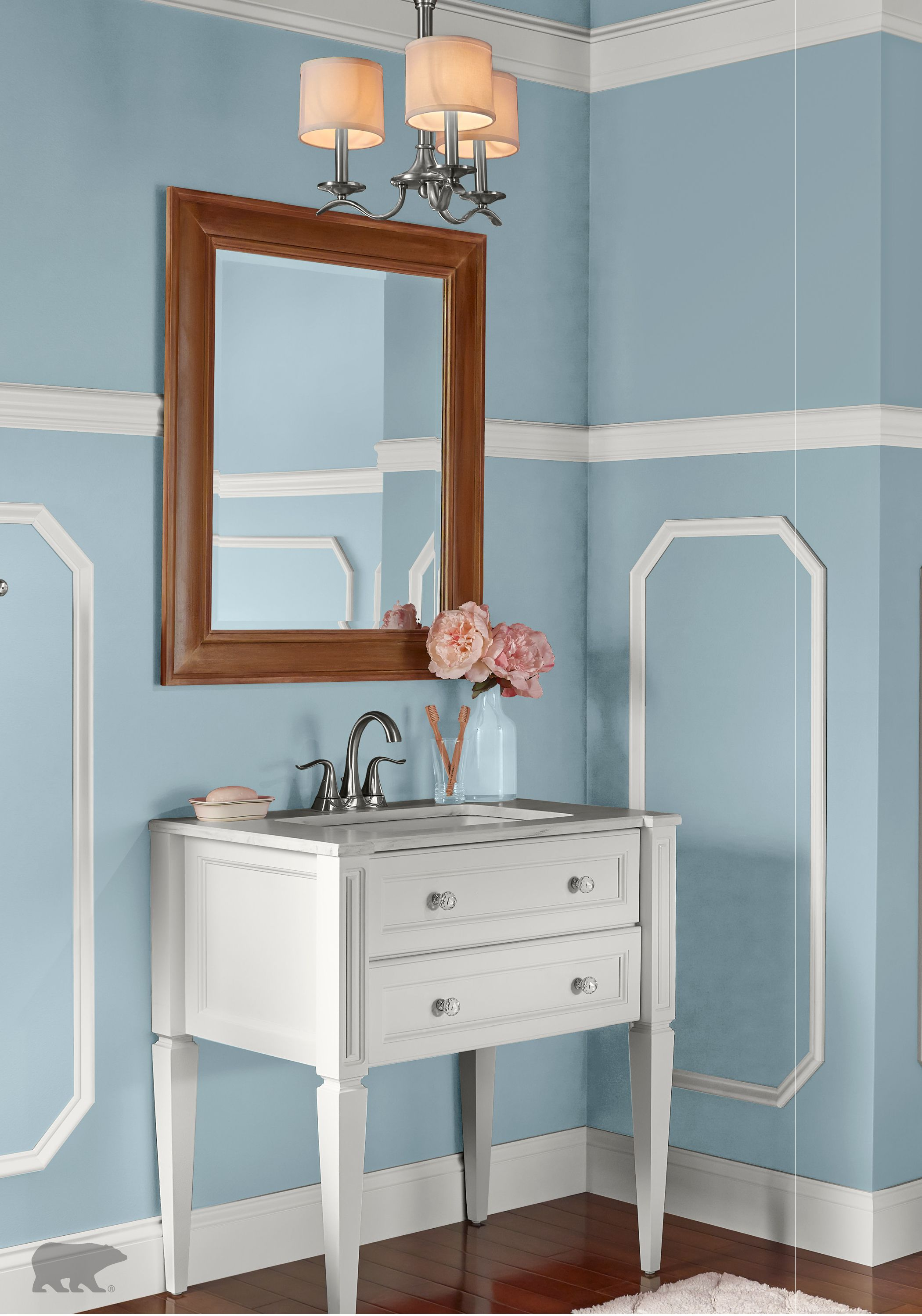 Update your Victorian-style bathroom with BEHR paint in Snowmelt ...