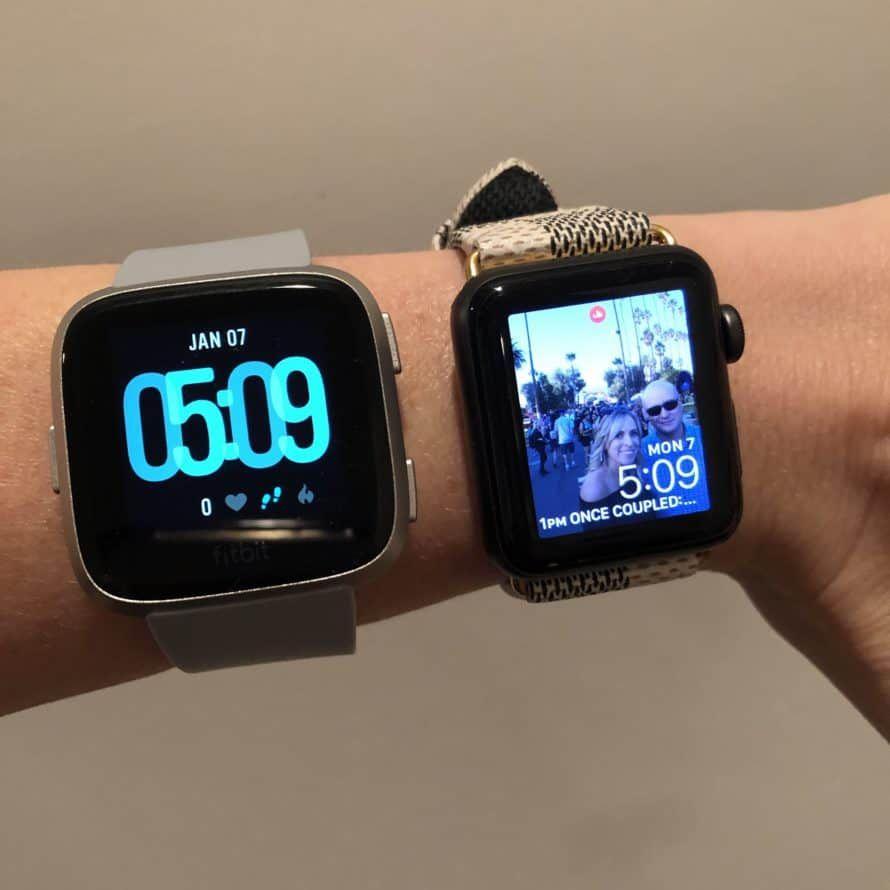 Fitbit Versa Vs Apple Watch Comparison Apple Watch Vs Fitbit Apple Watch Fitness Apple Watch Review