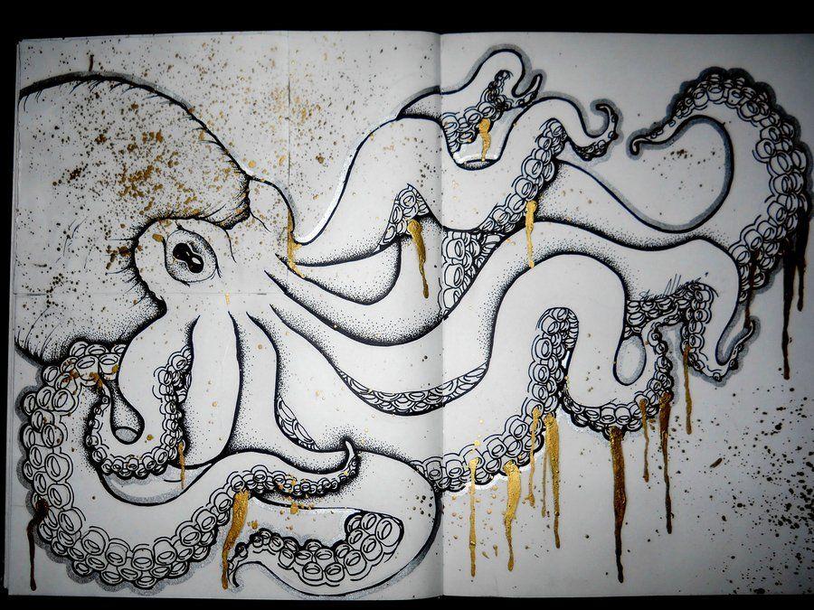 kraken tumblr sketch Google Search octo Pinterest Sketches