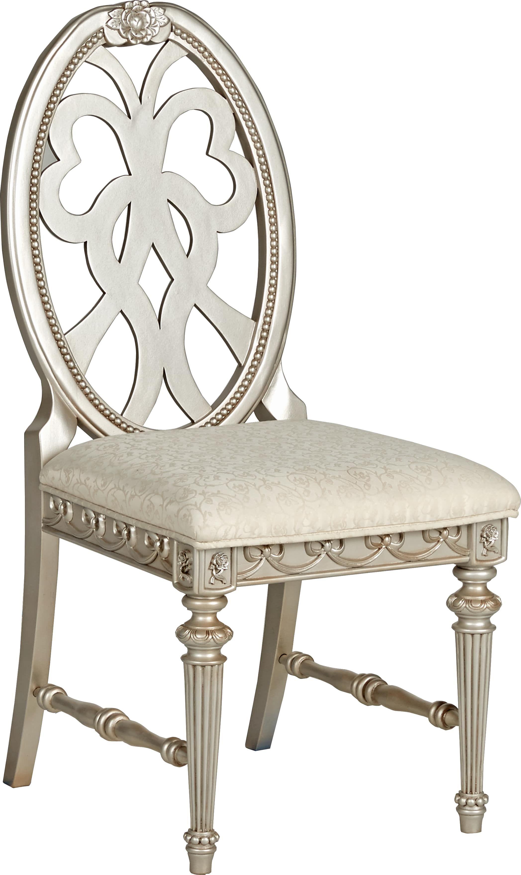 Disney princess silver desk chair chair upholstered