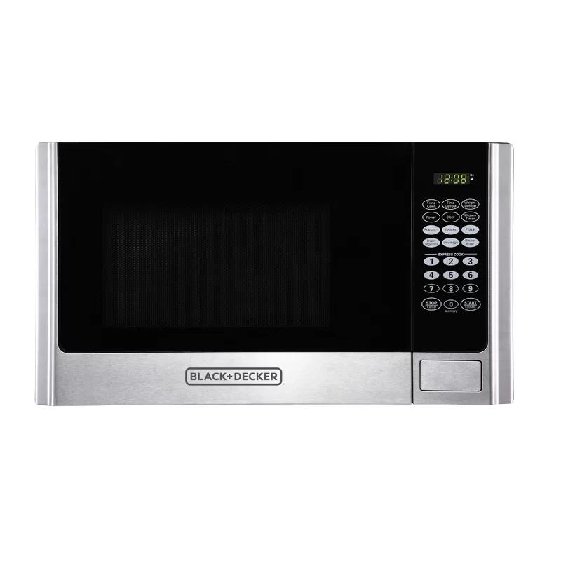 19 0 9 Cu Ft Countertop Microwave Countertop Microwave Stainless Steel Microwave Black Decker