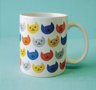 rock scissor paper - cat pattern mug.