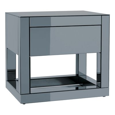 Beautiful Black Mirror Bedside Table
