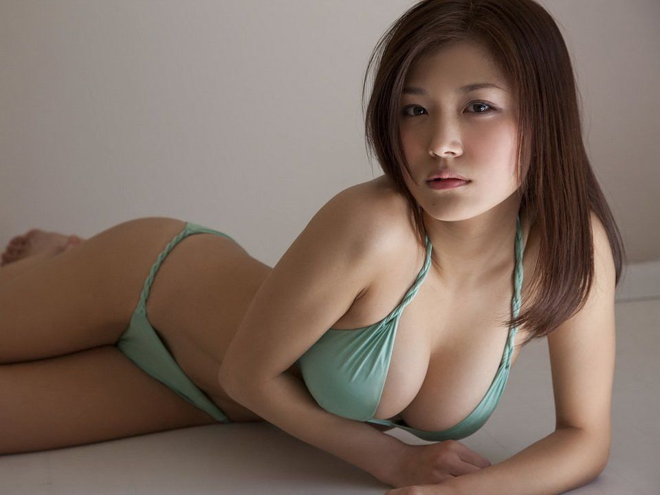 Swimsuit  Beauty  Beautiful Chinese Girl, Green Lingerie -6702