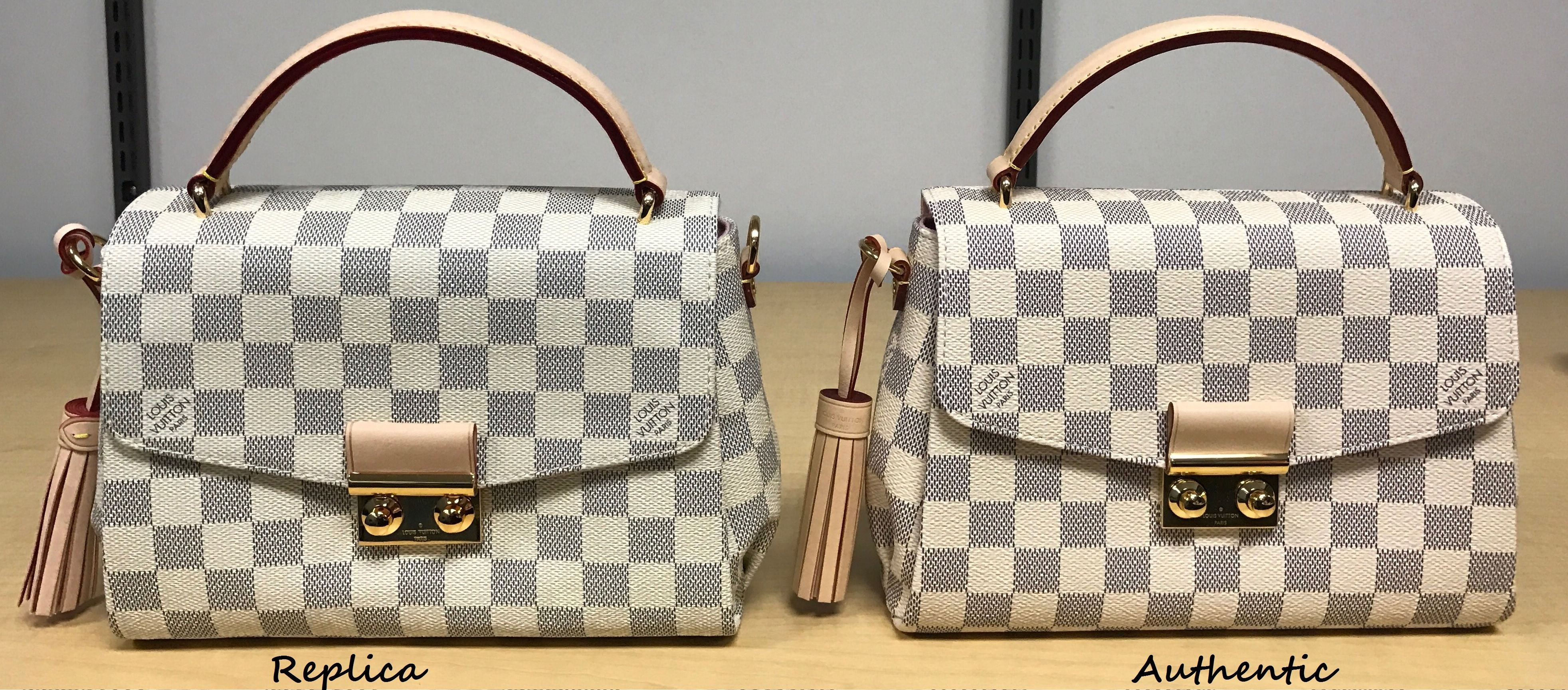 how to spot a fake louis vuitton croisette bag  a detailed review  u0026 side by side comparison