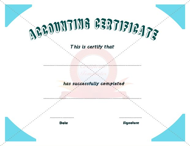 Accounting certificate business certificate pinterest accounting certificate accounting certificatecertificate templatesbowling yadclub Images