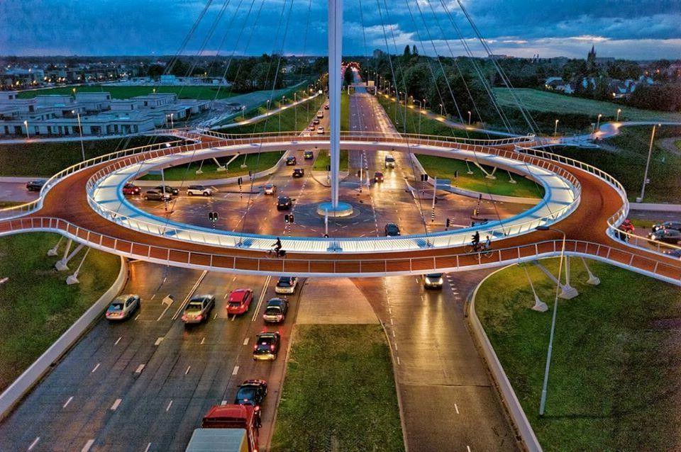 Image result for hovenring circular cycle bridge