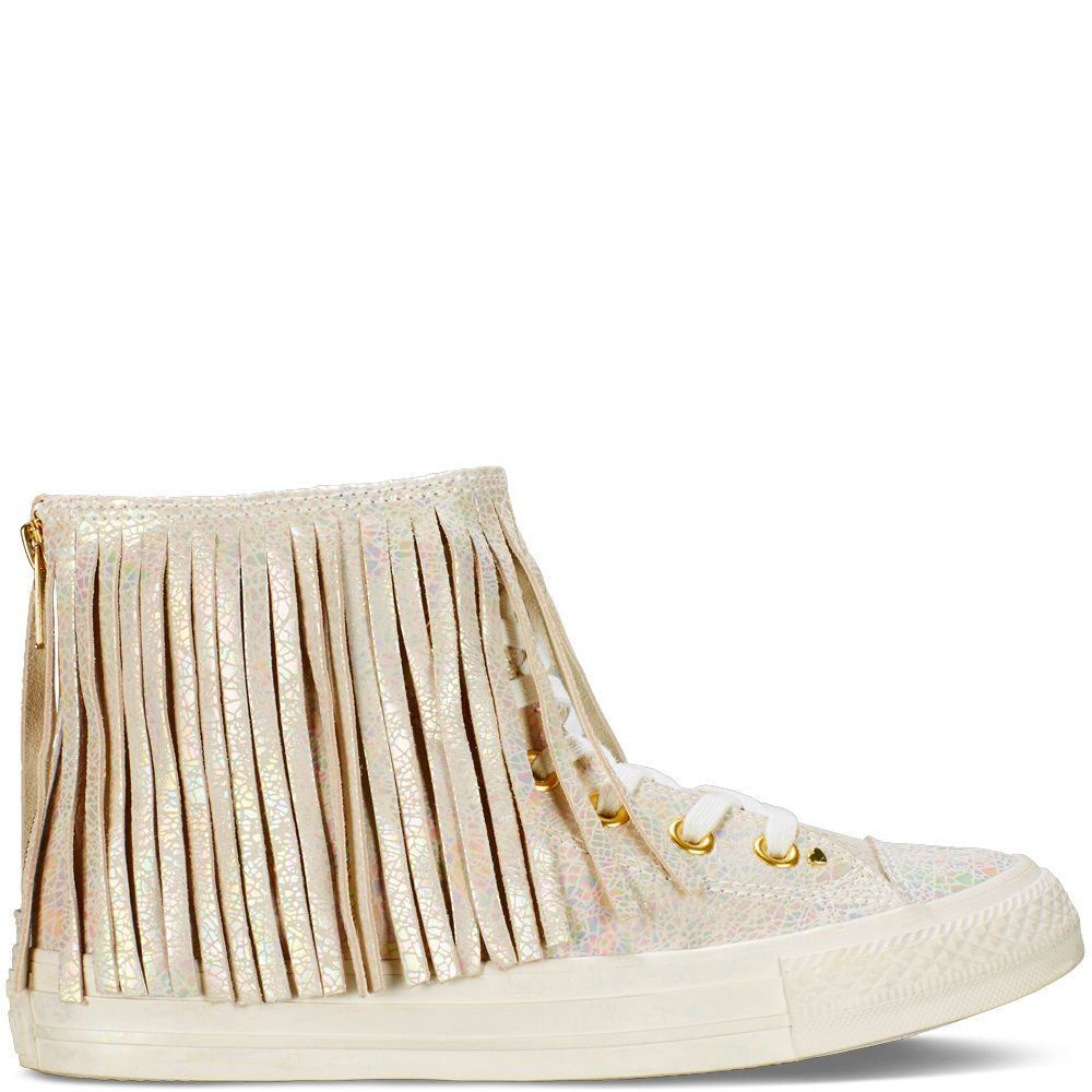 7a3c1b3632546d Chuck Taylor All Star Iridescent Leather Fringe  115.00