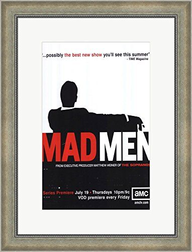 Mad Men (TV) Framed Art Print Wall Picture Silver Scoop Frame with ...