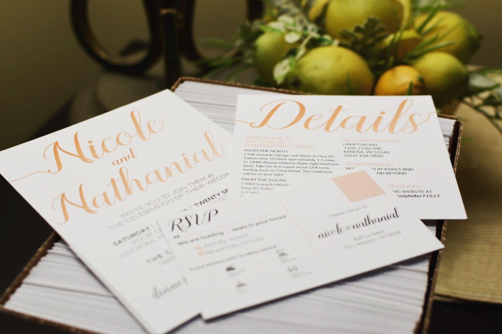 Elegant Simple Wedding Invite Sets Krafted By Kay Pinterest