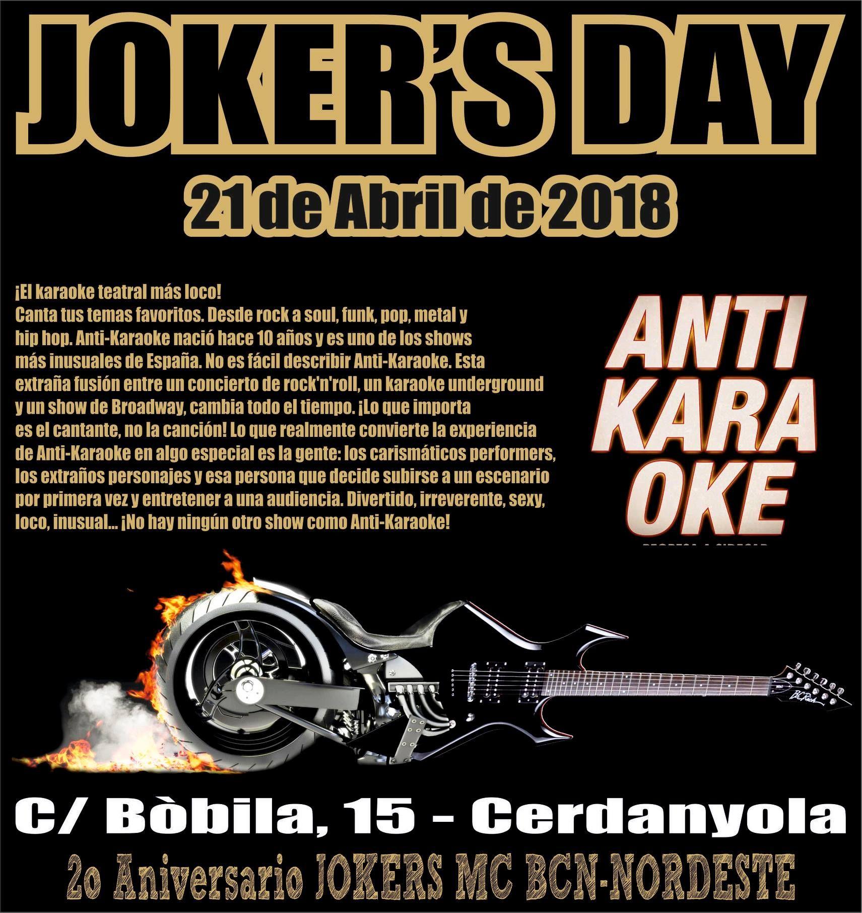 Joker S Day Karaoke Joker Concierto