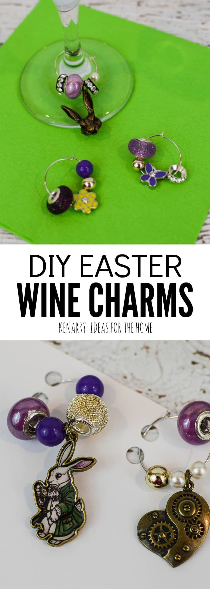 Easter wine charms easy craft idea for diy gift super easy learn how to make easter wine charms as a diy gift for friends and neighbors negle Choice Image