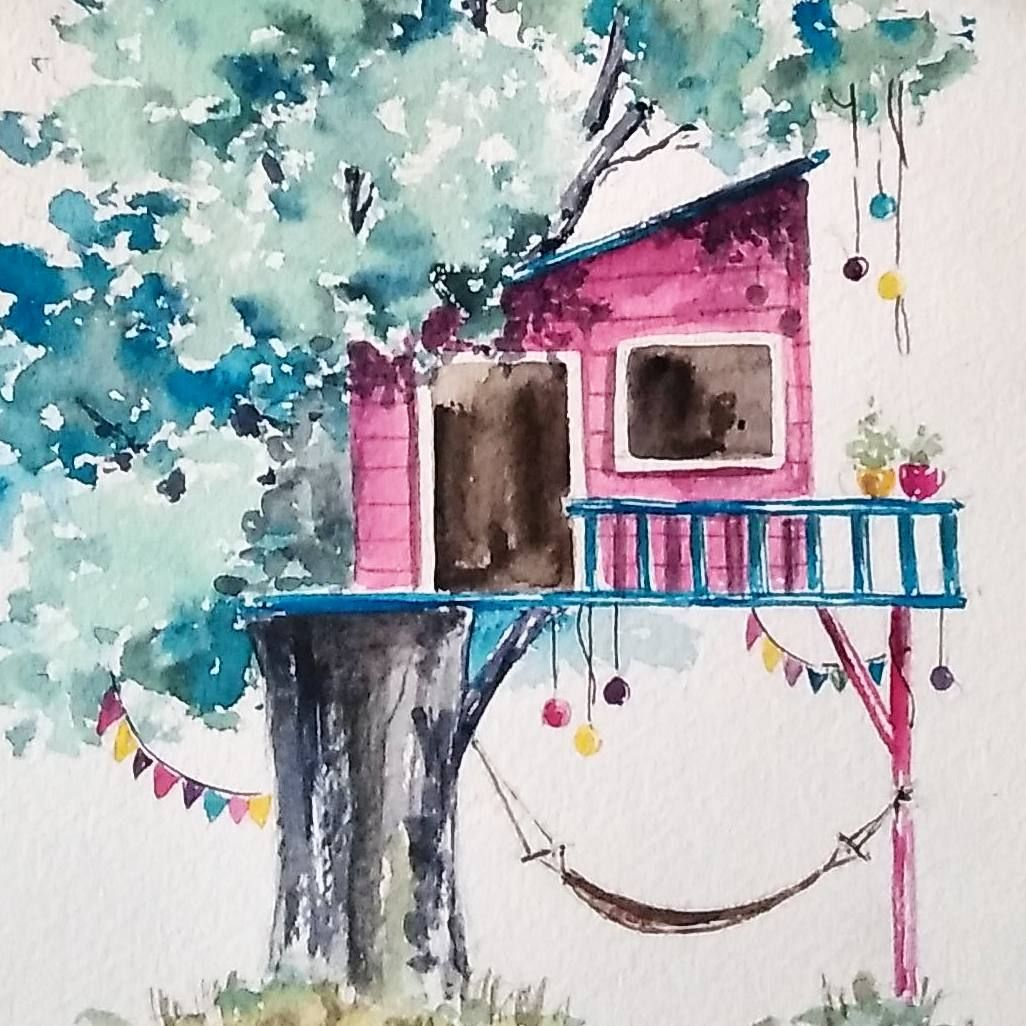 Tree House Image By Ruth O Hara On Watercolors Detail Shots