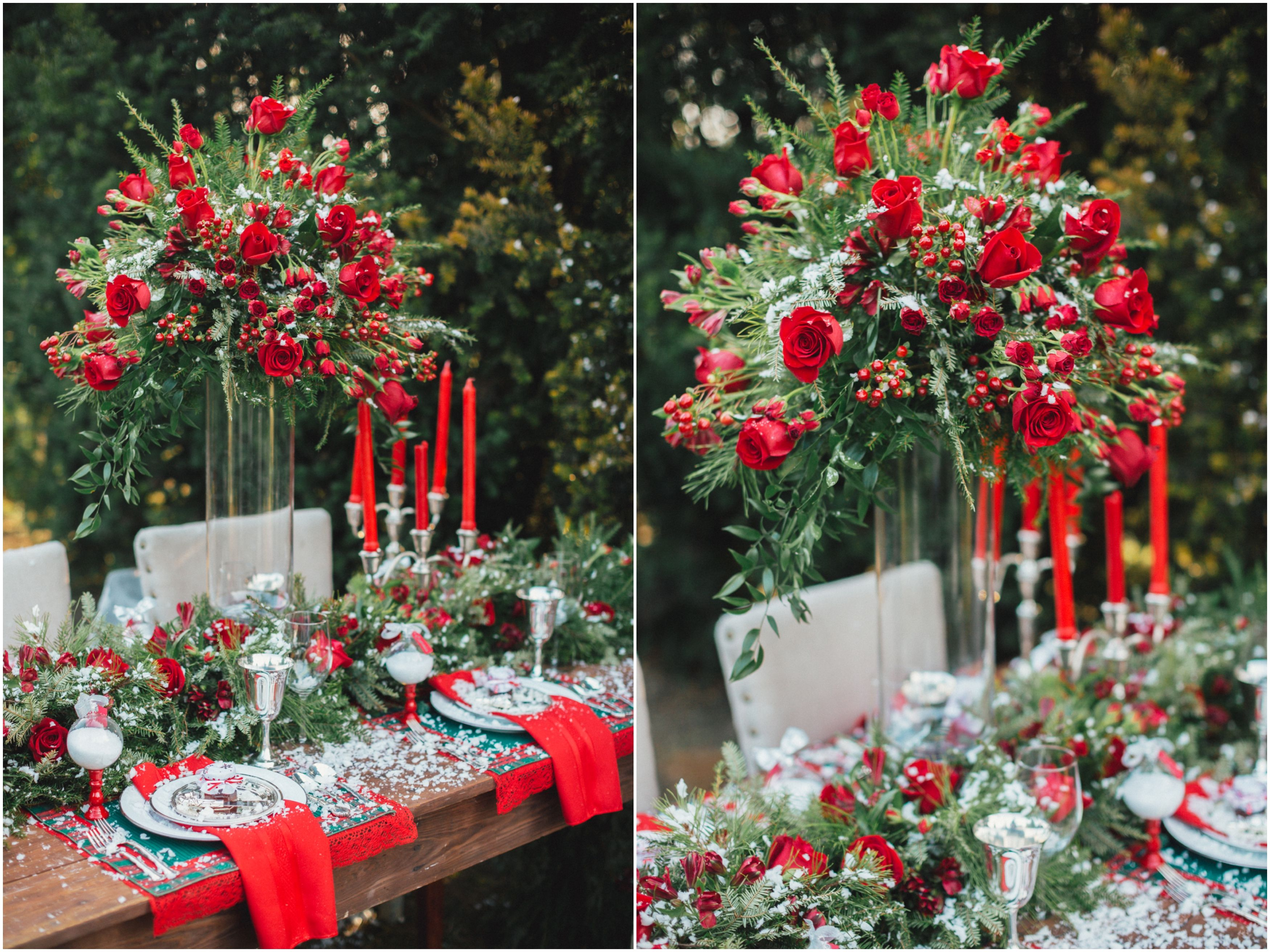 Christmas Themed Wedding Receptions Google Search