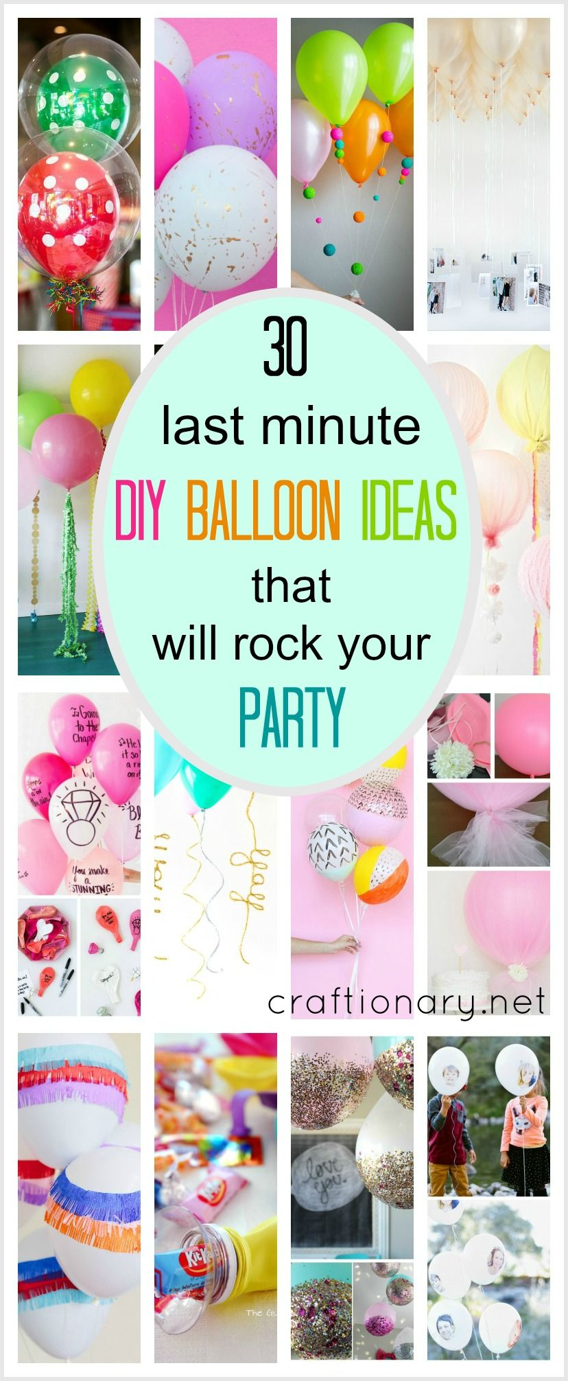 last minute diy balloon ideas | party rock, balloon party and birthdays