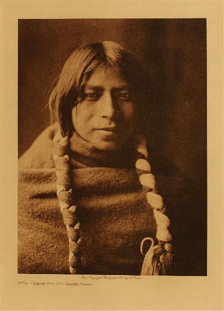 "Fo-e - ""Snow Child"" - Santa Clara - 1905 (The North American Indian by Edward S. Curtis)"