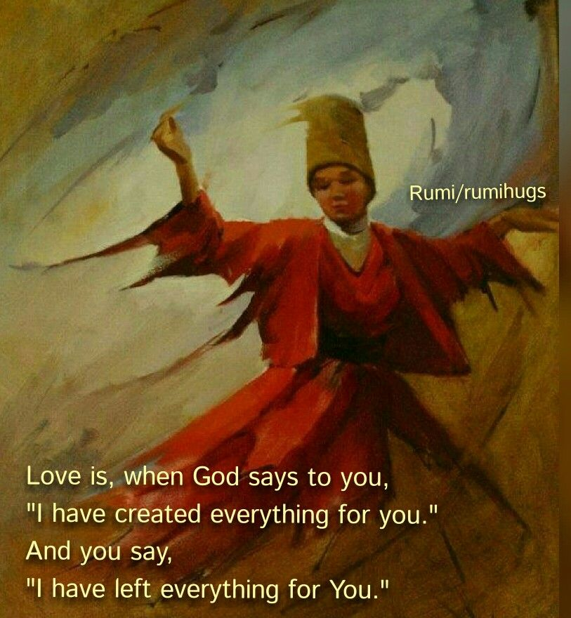 Love is when God says to you