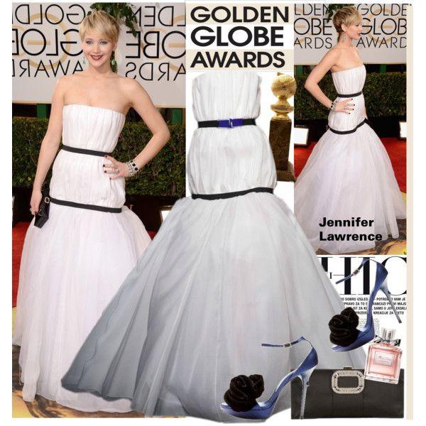 Jennifer Lawrence in Dior - Golden Globes 2014 Red Carpet ...