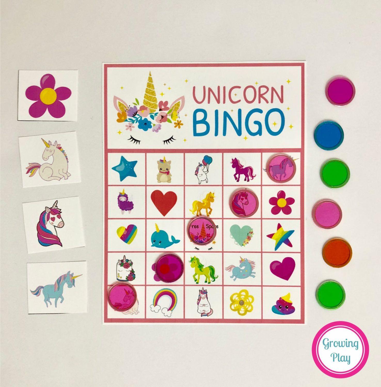 Unicorn Bingo Party Printable Instant Download Bingo
