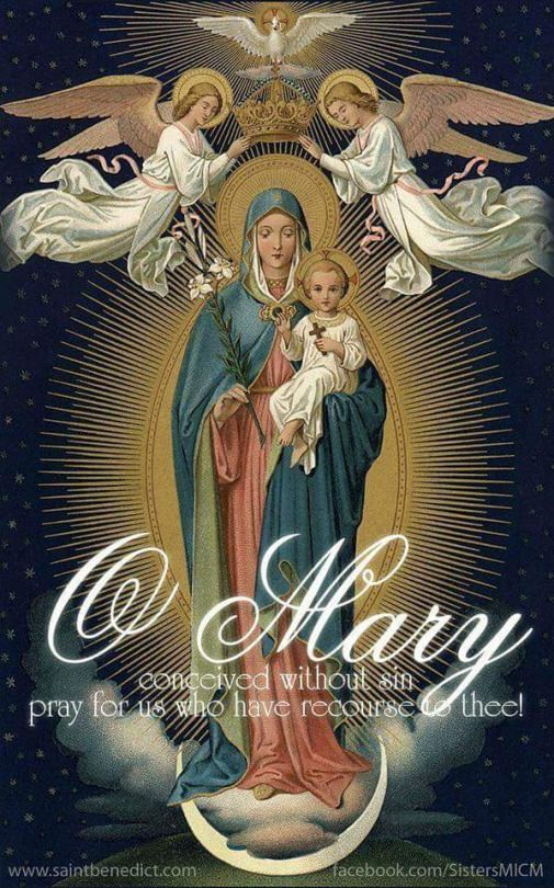 O Mary conceived without sin - Pray for us who have recourse to Thee!