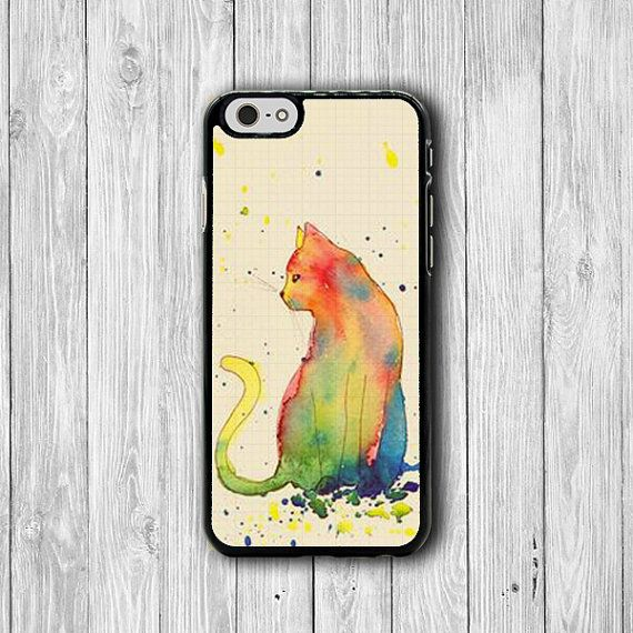 sketch cat watercolor drawing iphone cases sweet iphone 6 cover iphone 6 plus iphone 5 hard case soft rubber gadgets electronics cases