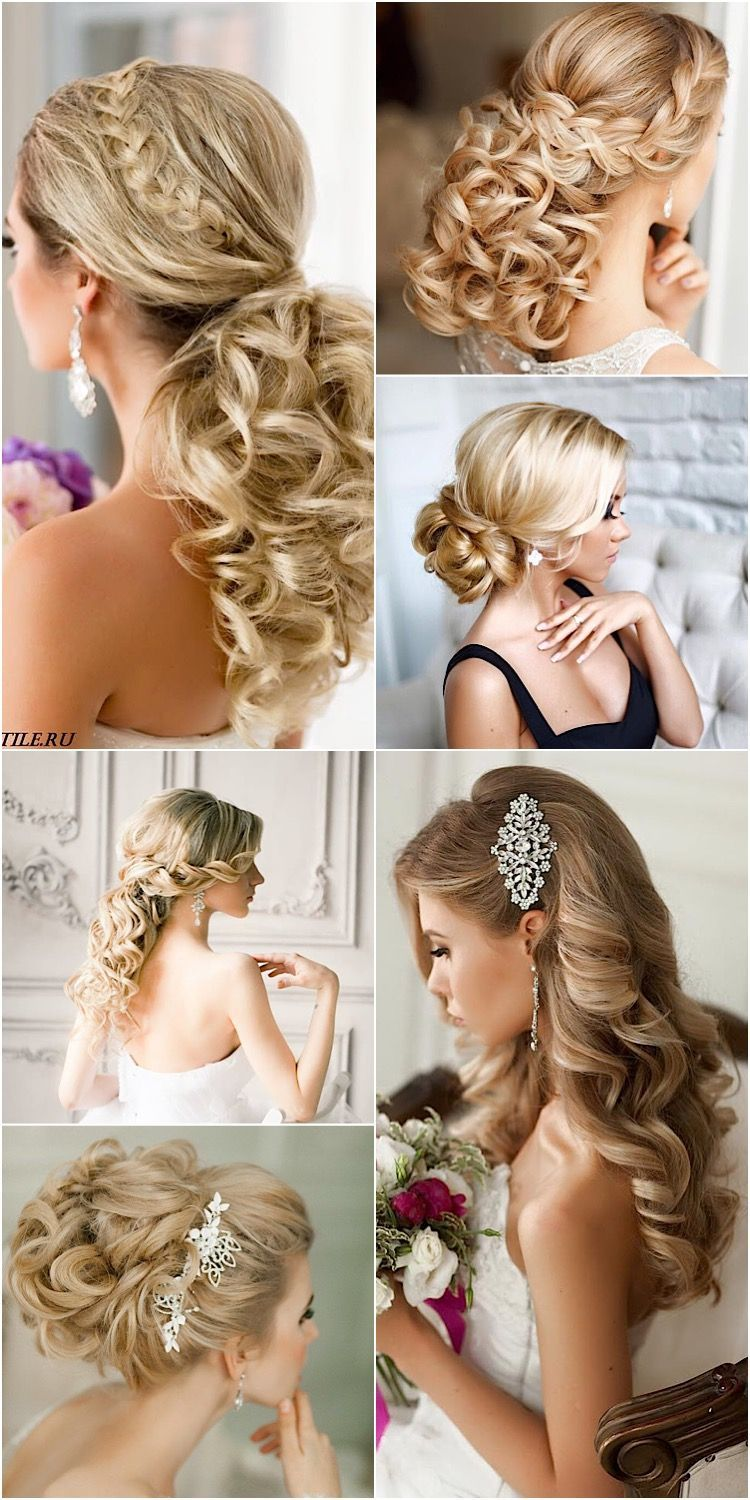 A collection of wedding hairstyles. Click to see