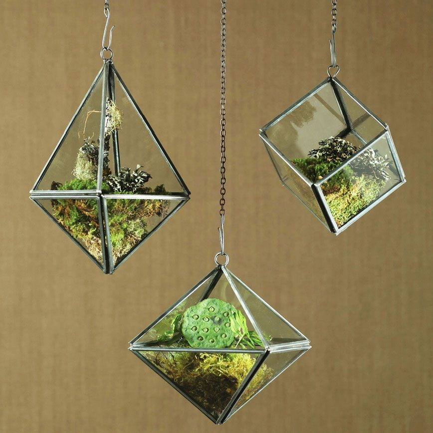 Plant & Grow Geometric Hanging Terrariums from Dot & Bo - Geometric Terrariums - Bring The Outside In Modern Bohemian Home