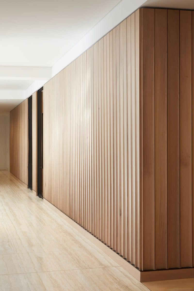 Modern Clean Wood Soldier Stacked On A Wall Wallpanel Modernwallpanel Wainscot In 2020 Interior Cladding Timber Walls Modern Interior Design