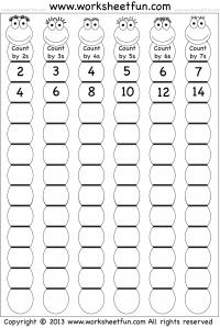 skip counting by 2 3 4 5 6 and 7 printable worksheets kindergarten math homeschool math. Black Bedroom Furniture Sets. Home Design Ideas