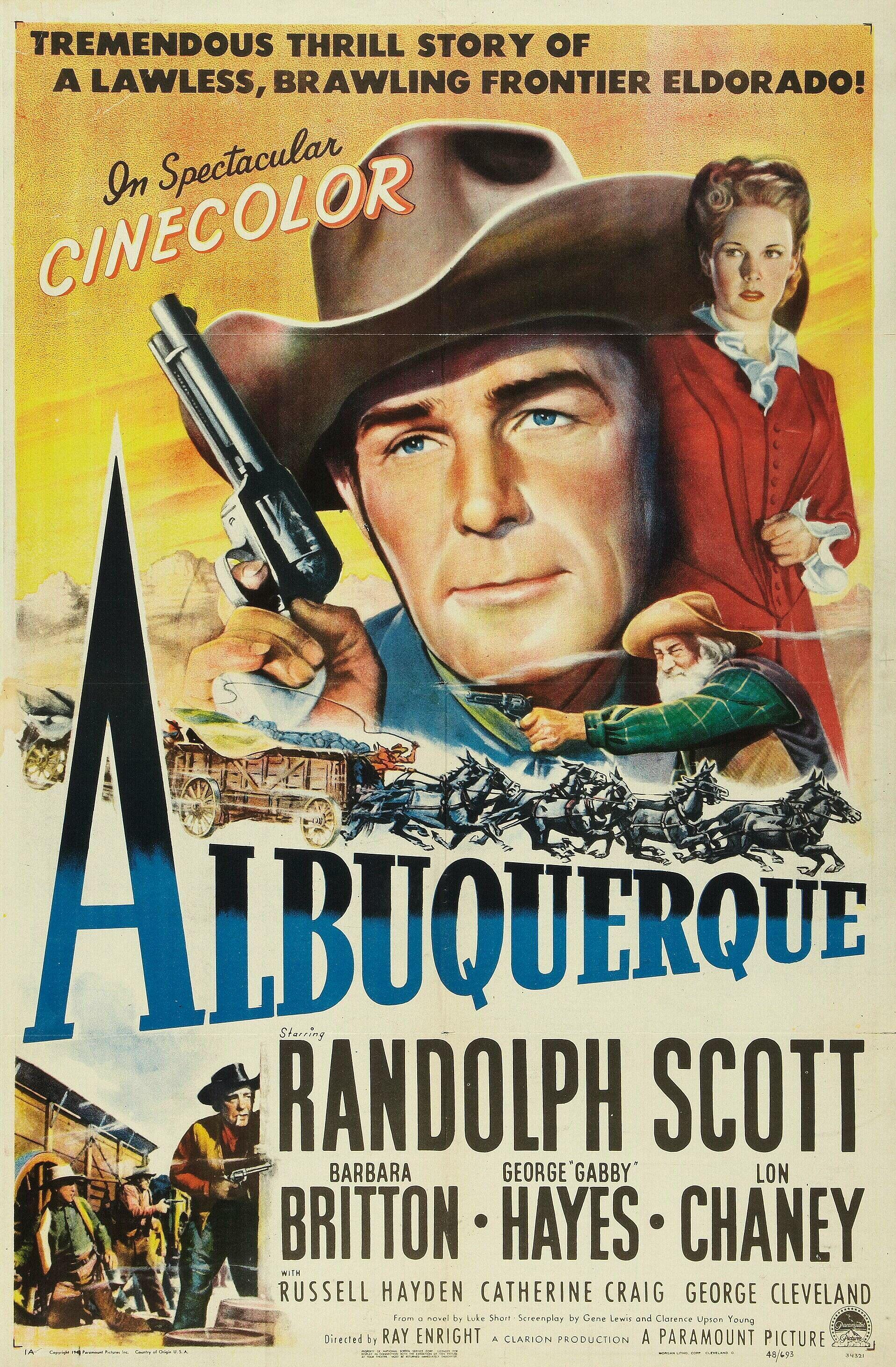 Albuquerque with Randolph Scott - 1948