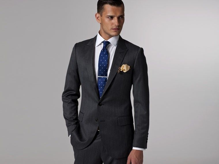Vincero Dark Gray Herringbone Suit | Indochino | Wedding Suits ...