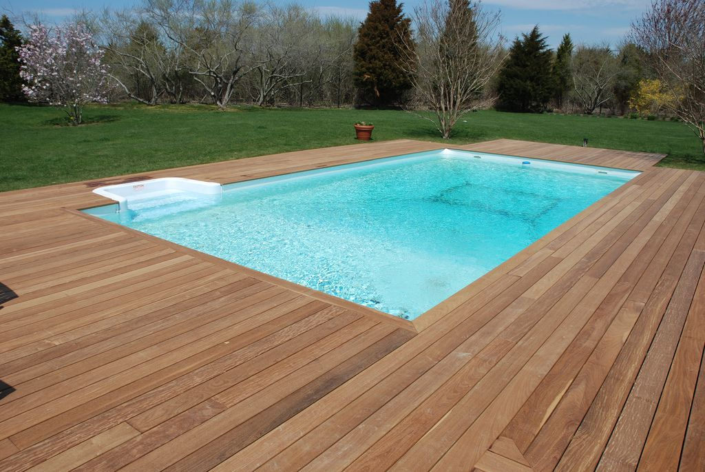 Ipe Pool Deck Beautiful Wood Decking Around In Ground Flickr