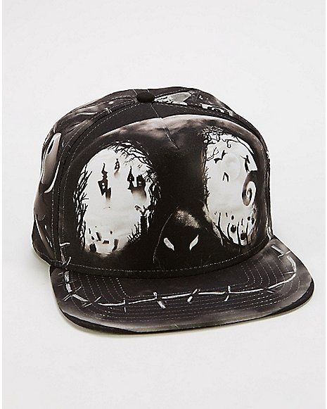 Sublimated Nightmare Before Christmas Snapback Hat - Spencer s ... 2baa63ea93d8