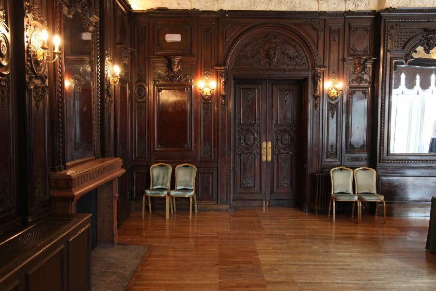 Ornate room with unusually dark wood paneling - Wood Panelled Room Wood Pinterest Bedrooms, Click! And On