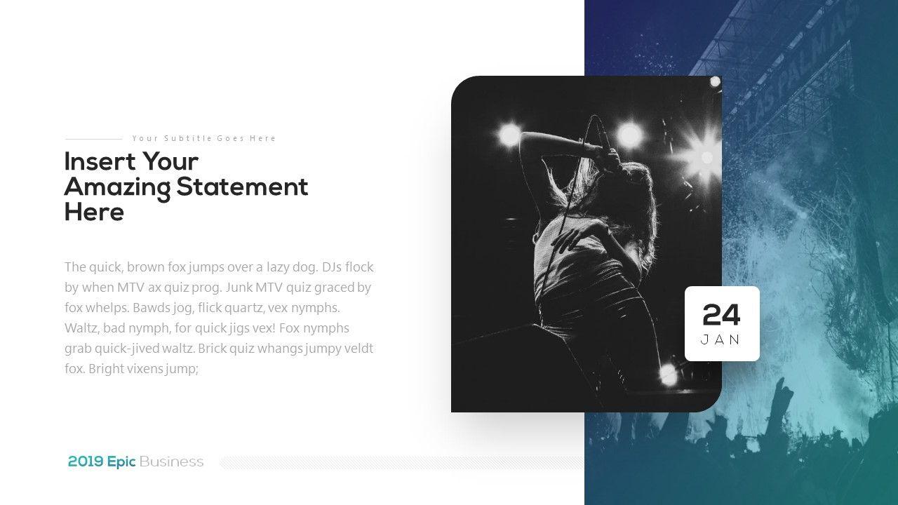 2018 Epic Presentation Template in 2020 Presentation