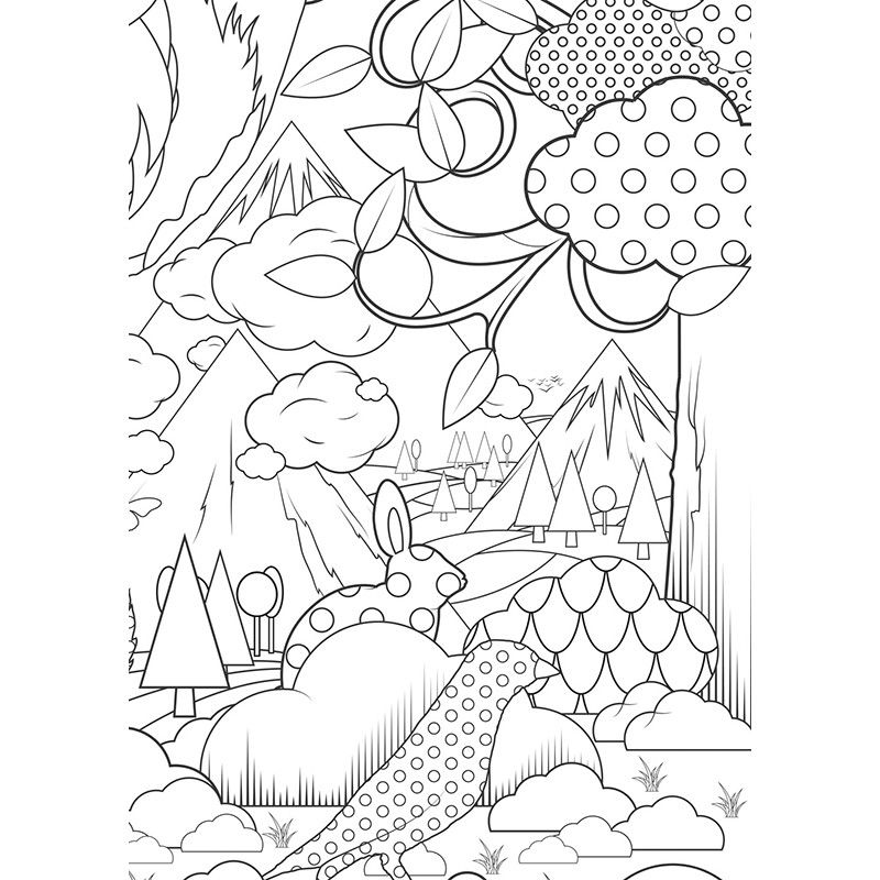 2557 Xxl Ausmalbild In The Forest Grosse Wald Szene Ke 6 Jpg 800 800 Ausmalbild Ausmalen Bilder