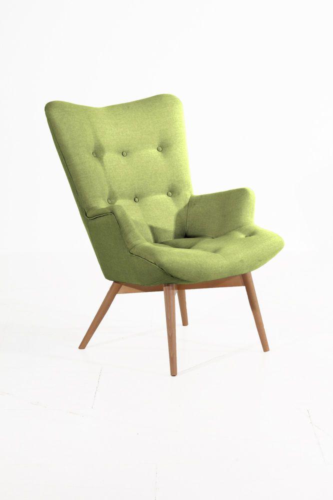 Einzelsessel design  Max Winzer ~ Sessel Aiko ~ Retro Einzelsessel ~ apfelgrün ...