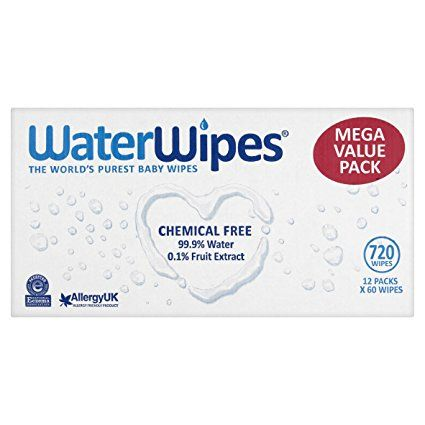 WaterWipes Chemical Free Baby Wipes 12 Pack x 60 Wipes High Quality 720 Wipes
