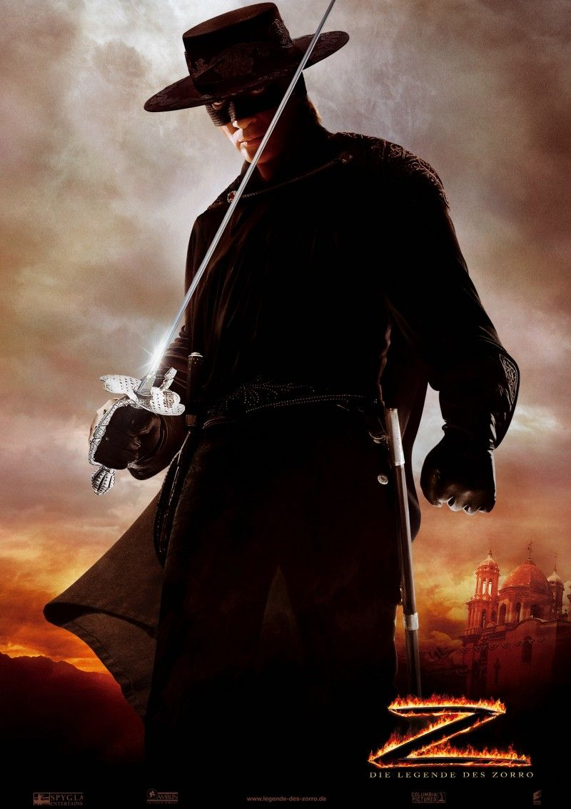 Zorro Played By Antonio Banderas In The Legend Of Zorro Com