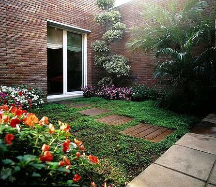 diseño de jardines verdes con piedras exterior Pinterest