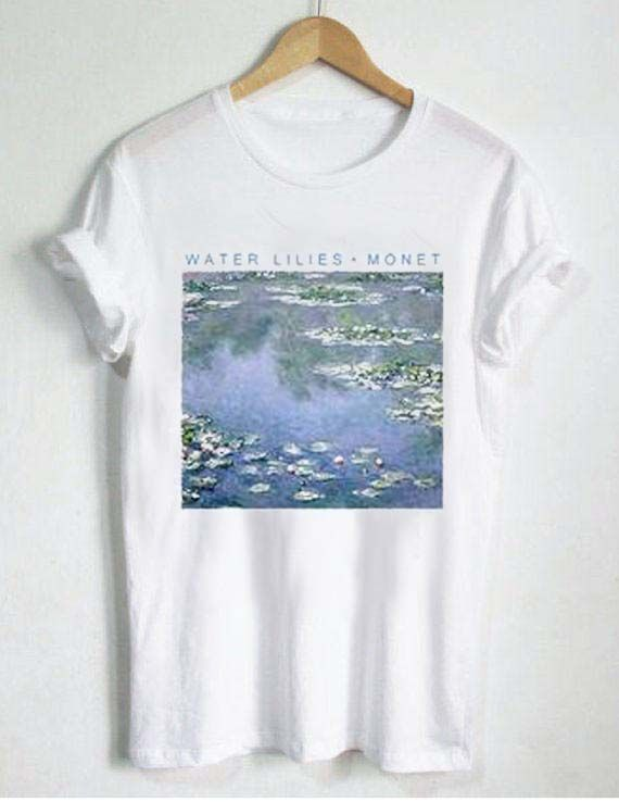 f5b8432502de water lilies monet T Shirt Size XS,S,M,L,XL,2XL,3XL unisex for men and  women Your new tee will be a great gift, I use only quality shirts
