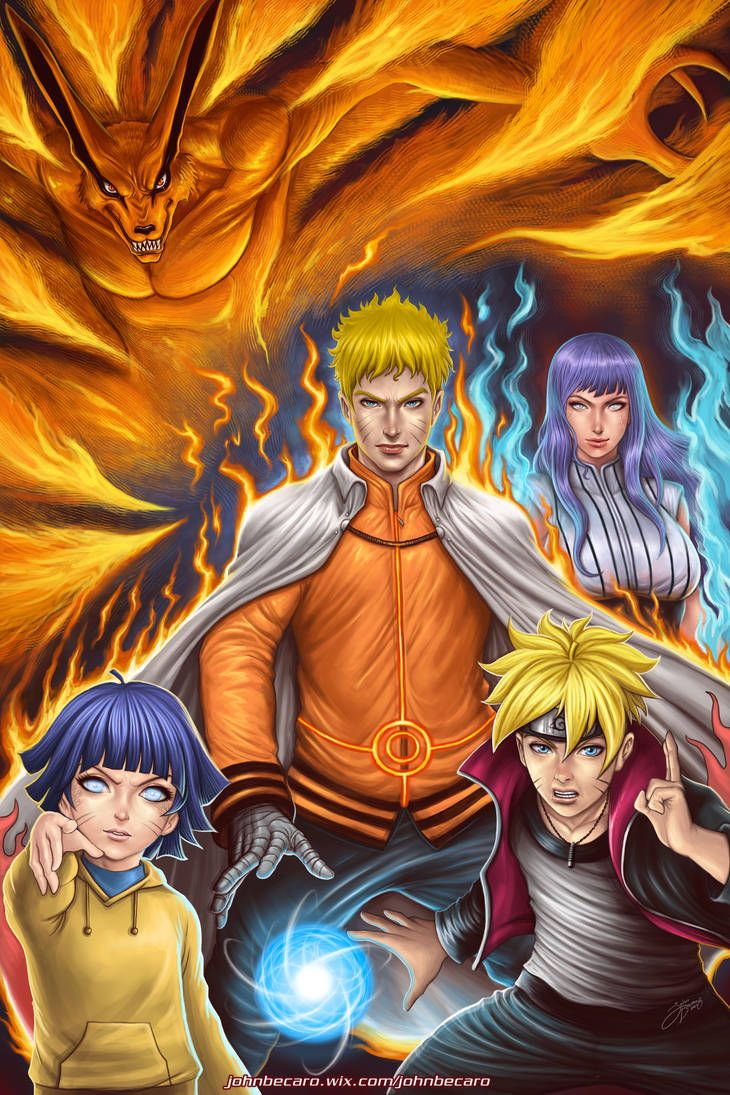 The Uzumaki Family by johnbecaro Naruto shippuden anime