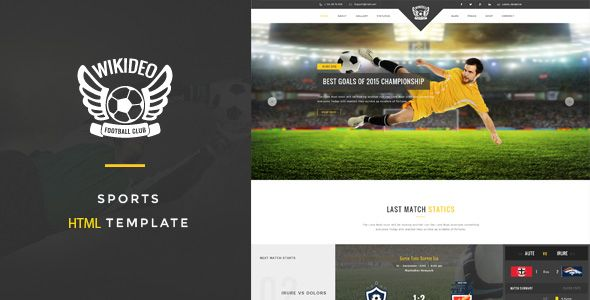 Wikideo Sports - Soccer and Football HTML Template (Miscellaneous ...