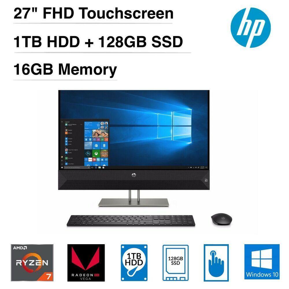 eBay #Sponsored HP Pavilion 27-xa0045z AIO PC AMD Ryzen 7