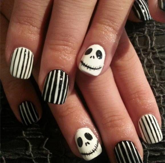 Halloween-Inspired Nail Art! The Nightmare Before Christmas! Jack ...