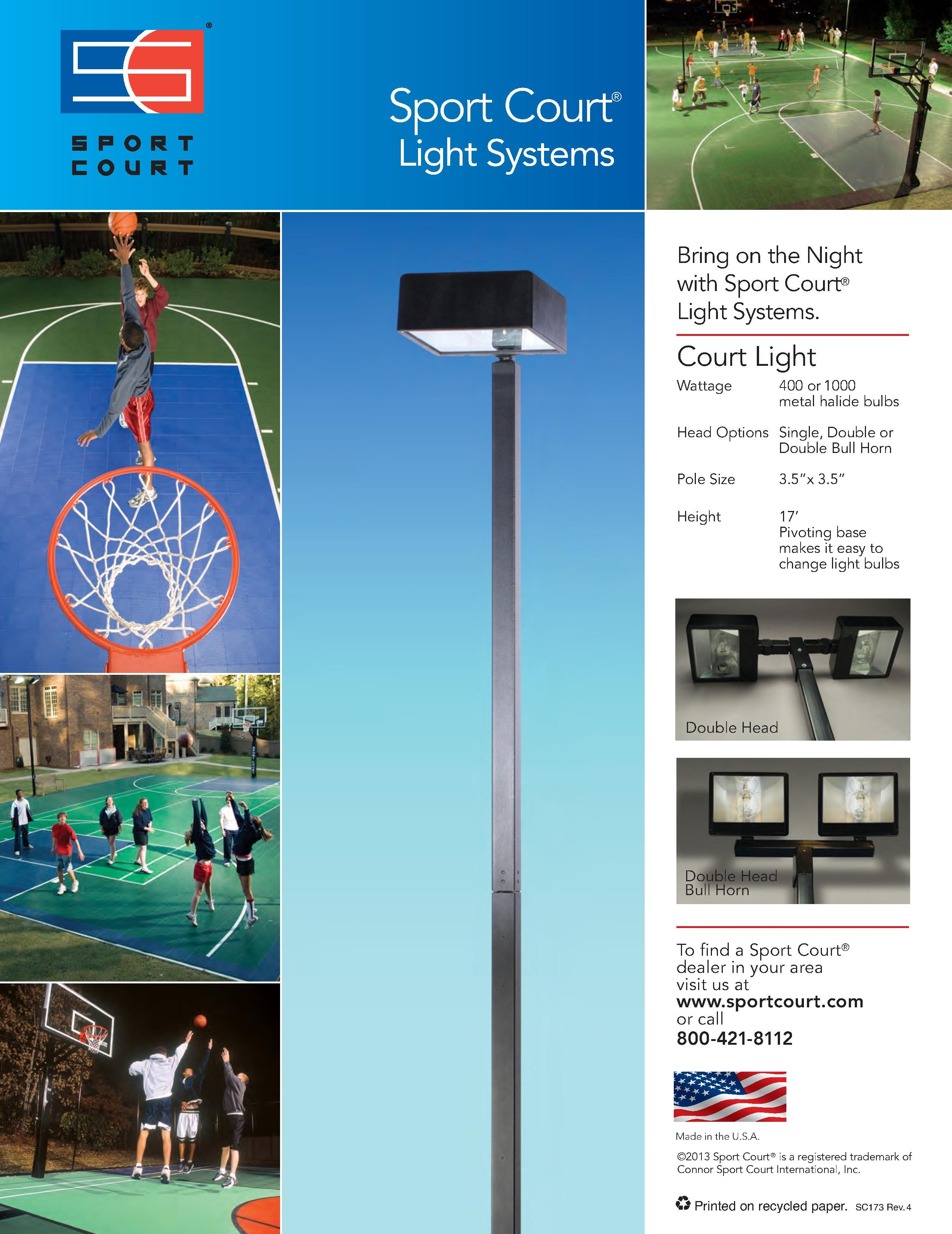 Diffe Options For Our Outdoor Sport Court Light Systems