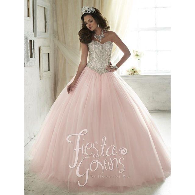 Baby Pink Sweet 16 Dresses