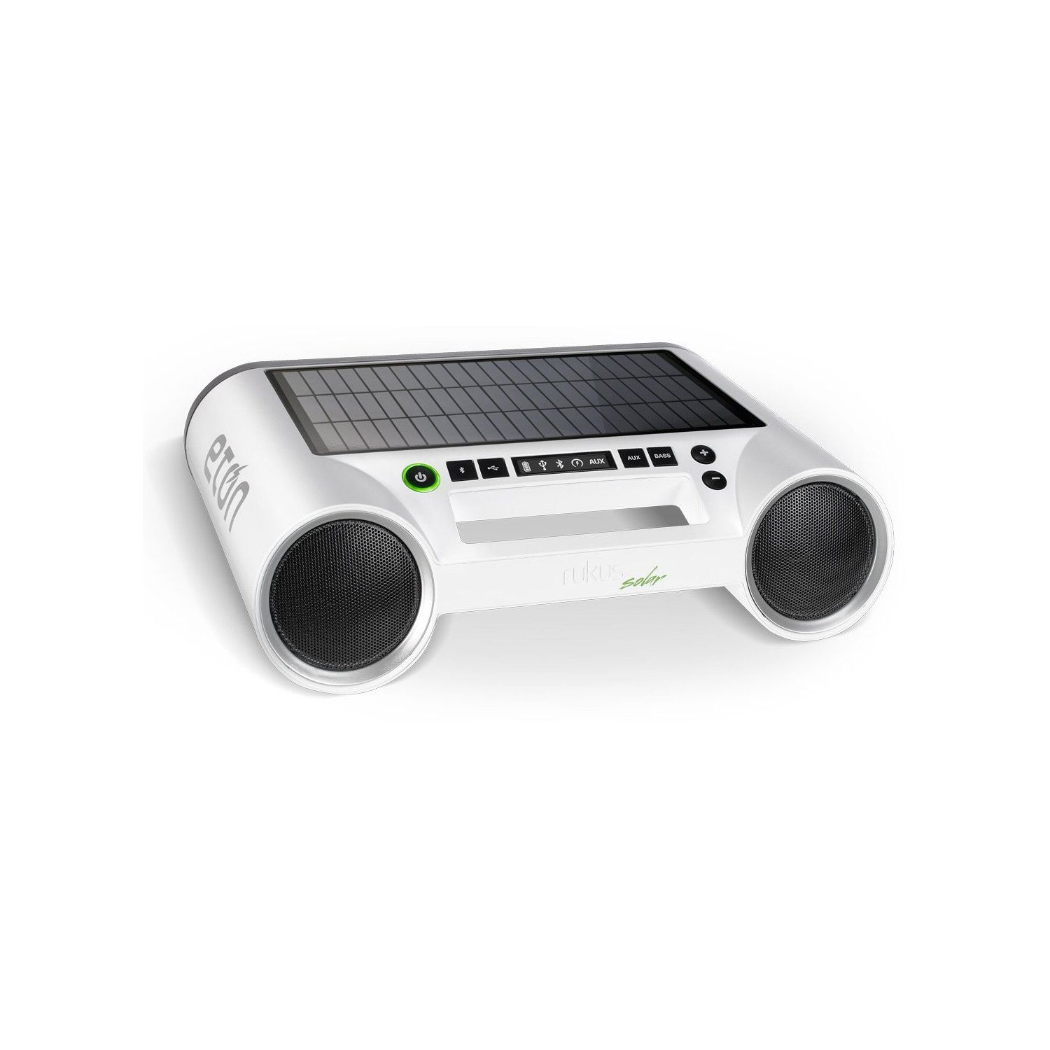 Eton Rukus White Solar Portable Bluetooth Stereo With Usb Port