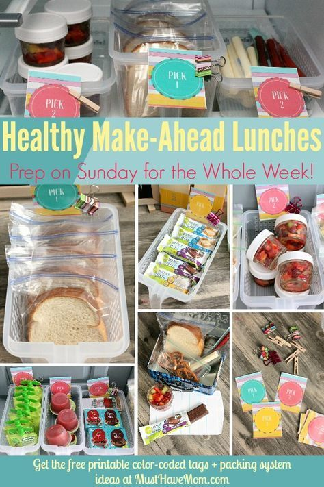 Quick amp easy tips to pack a healthy lunch everyday! Make ahead lunches and label... , Quick amp easy